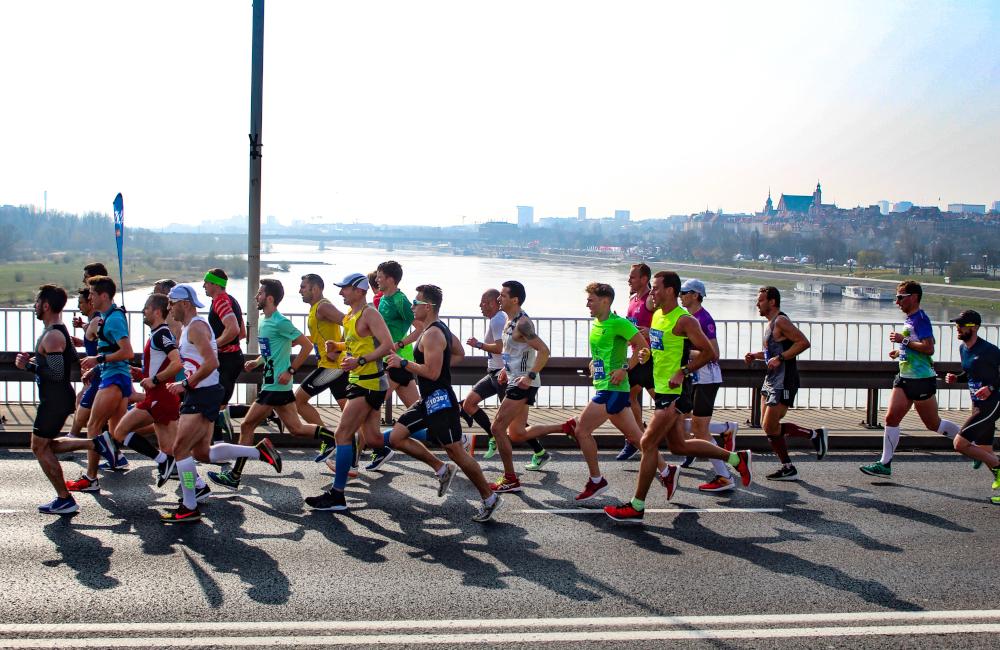ściana na maratonie
