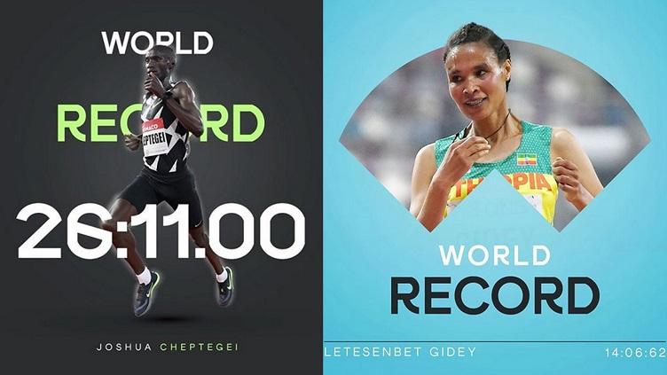 Noc rekordów: 14:06.62 Gidey i 26:11.00 Cheptegeiego
