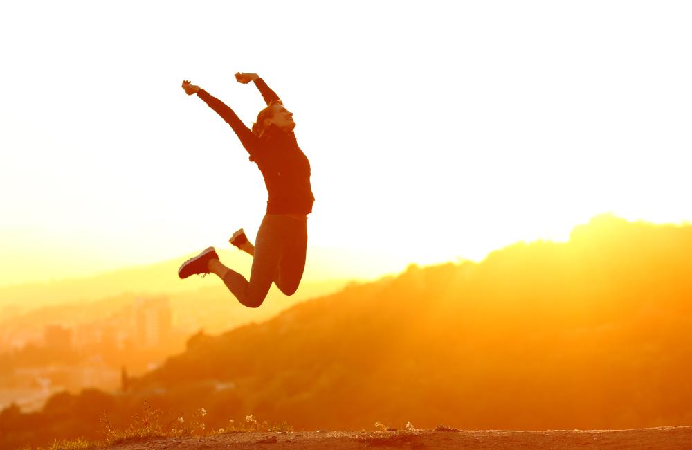 Szczęśliwa biegaczka